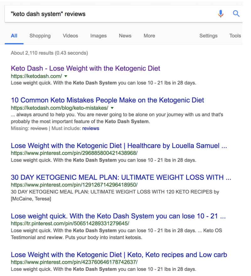 reviews on the keto dash system