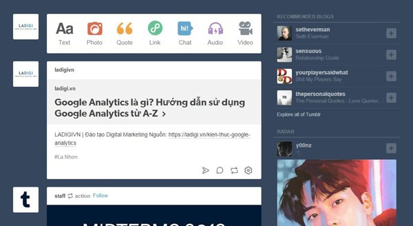 dashboard cua tumblr