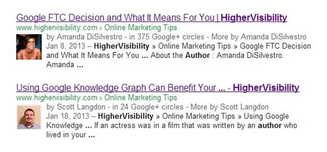 rich snippets author