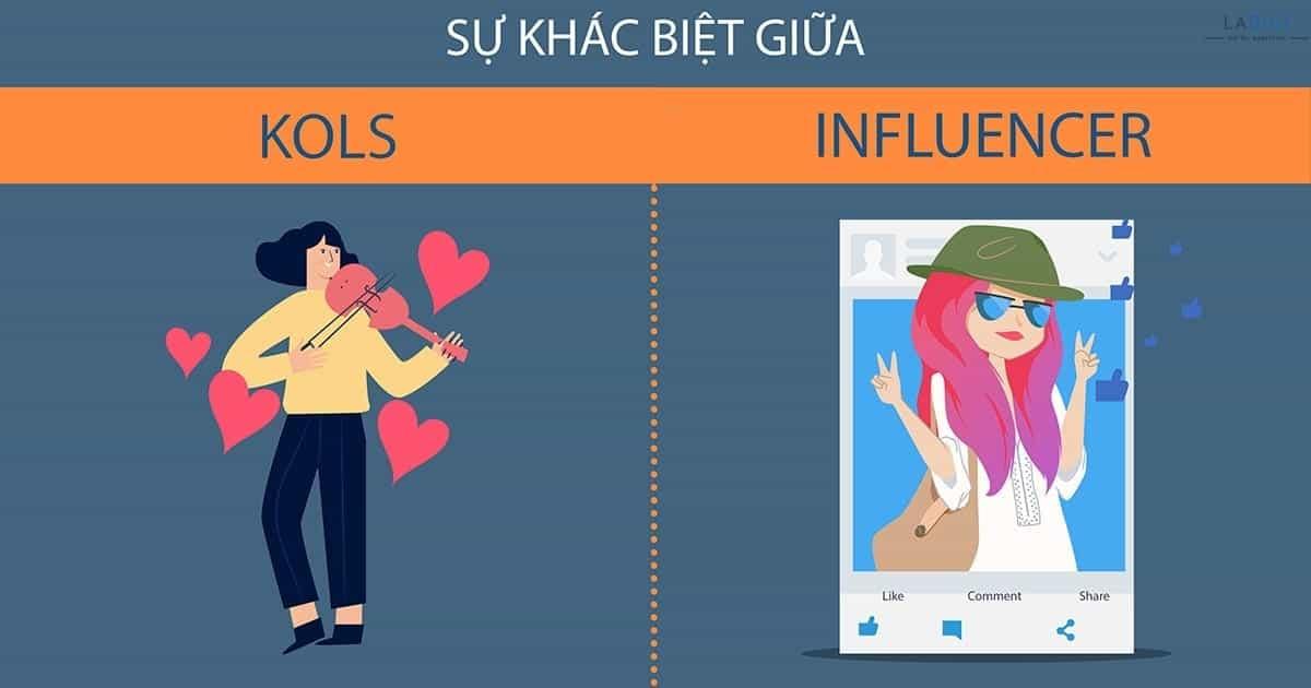 Sự khác biệt của influencer và kols là gì?