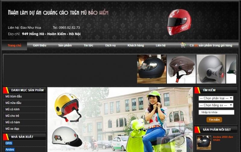 Website của Đại lý mũ bảo hiểm chính hãng tại Hà Nội - GRS