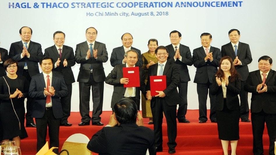 Lễ ký kết hợp tác chiến lược giữa THACO và HAGL