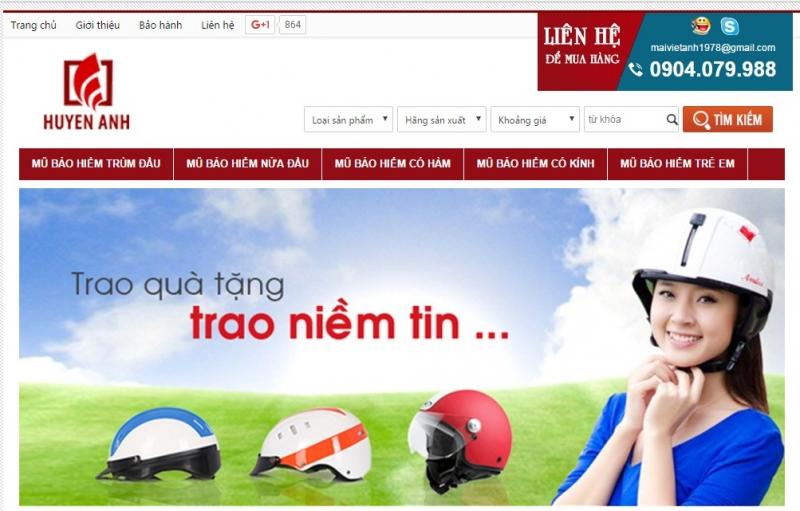 Shop mũ bảo hiểm Huyền Anh - Cửa hàng mũ bảo hiểm uy tín ở Hà Nội t