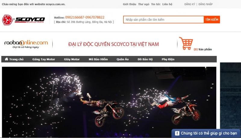 Website của Scoyco Việt Nam